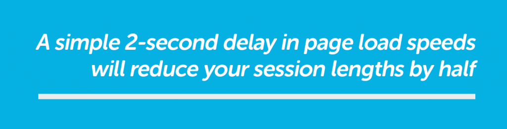 two second delay reduces session lengths by half