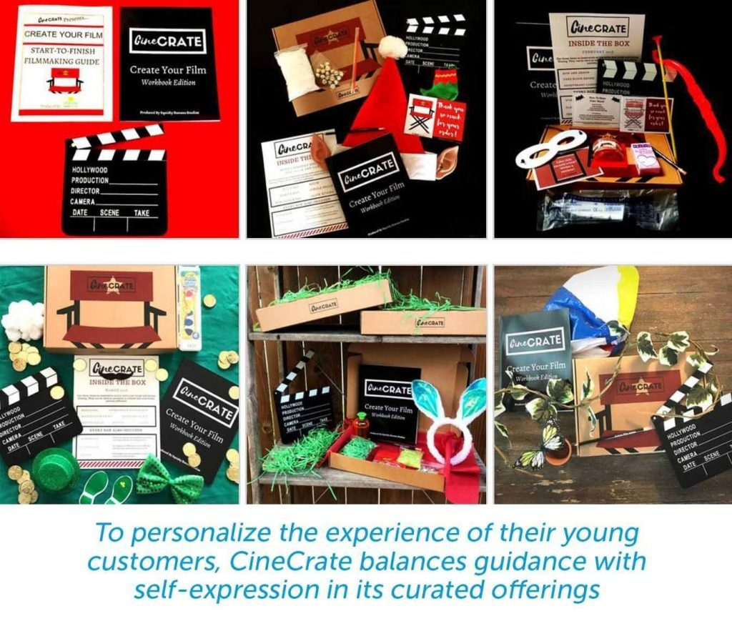 examples of curated offerings from cinecrate boxes