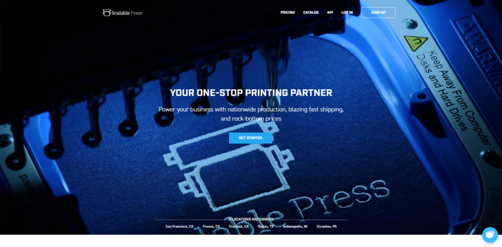 scalable press for dropshipping