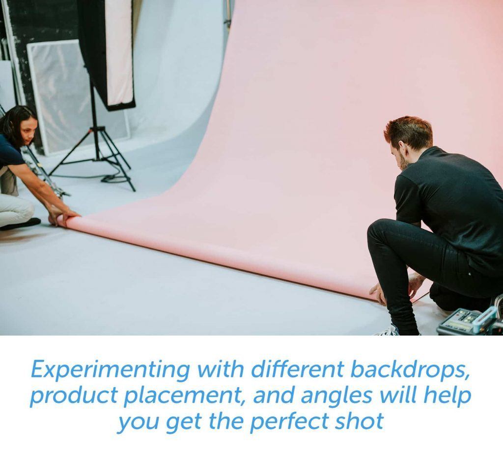 Experiment with different backdrops for the perfect shot