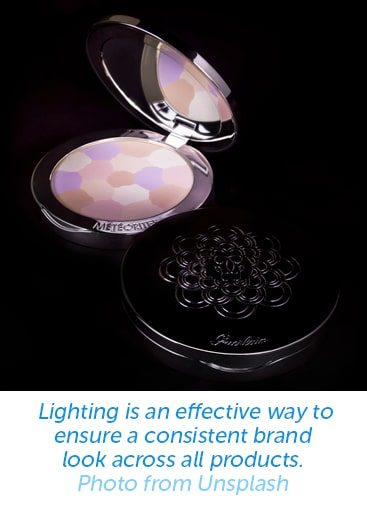 Lighting is an effective way to ensure a consistent brand look across all products.