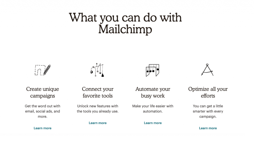 Mail Chimp email marketing software