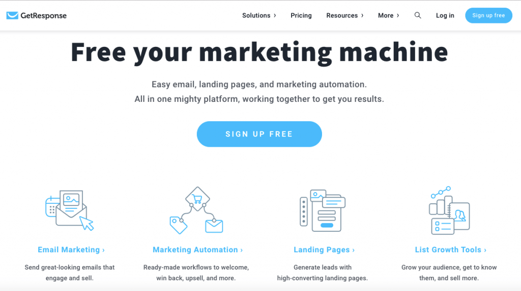 GetResponse is an all in one online marketing platform to grow your business.ne