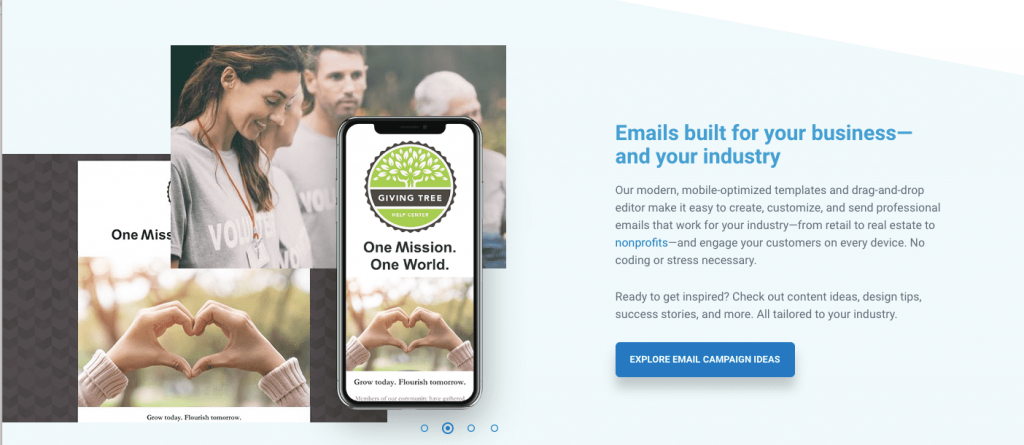 Constant Contact is a successful well established email marketing software choice.