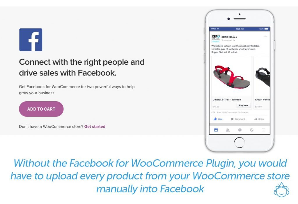 Without the Facebook for WooCommerce Plugin, you would have to upload every product from WooCommerce into Facebook manually, making business for Instagram harder.