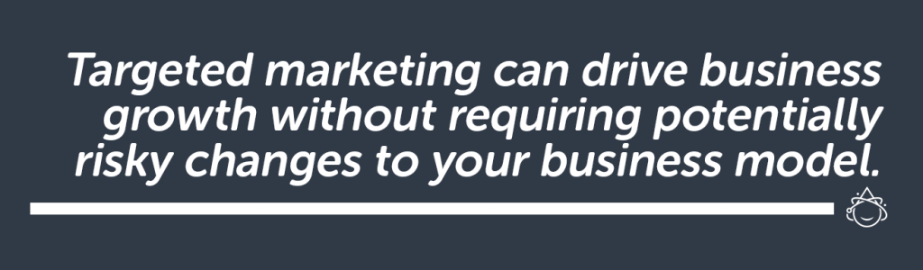 Targeted marketing can drive business growth without requiring potentially risky changes to your business model.