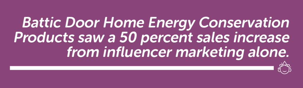 Battic Door Home Energy Conservation Products use influencer marketing.